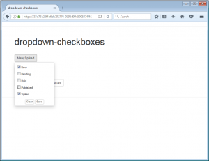 Dropdown Checkboxes