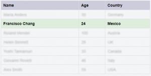 Fade HTML table row