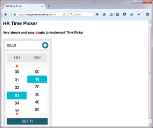 HR Time Picker