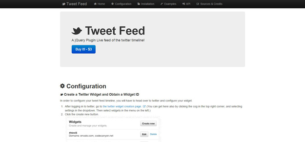JQuery Tweet Feed Plugin