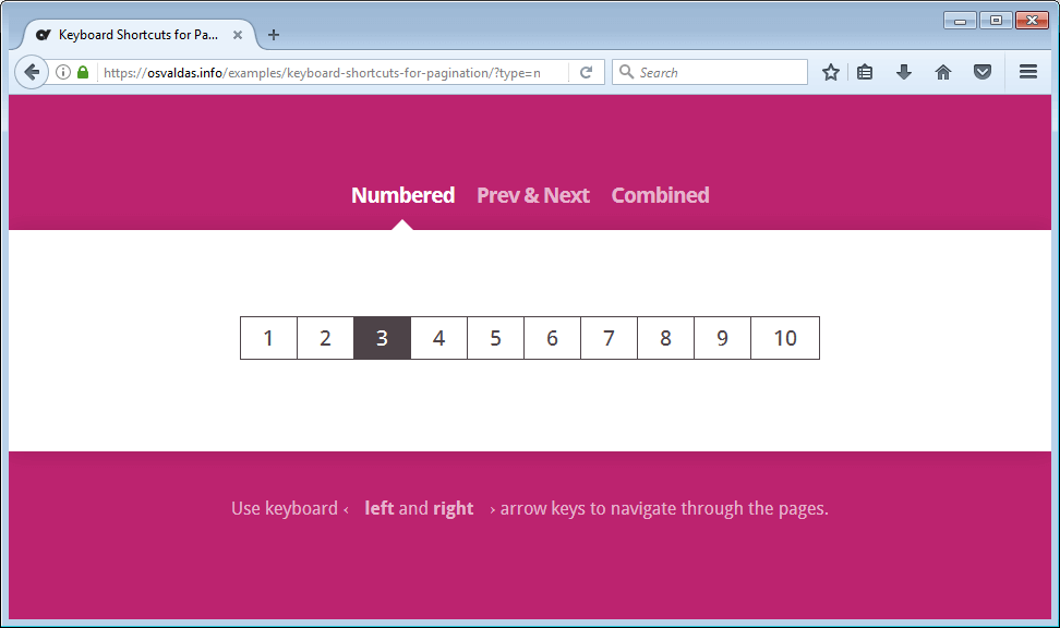 Keyboard Pagination