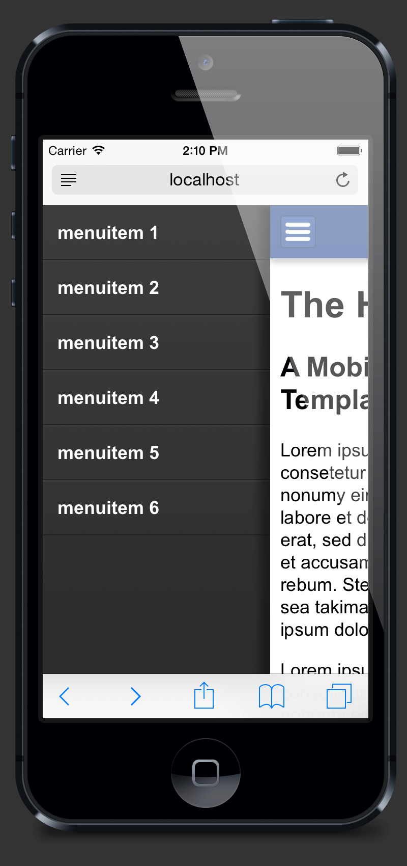 Mobile Menu Hamburger