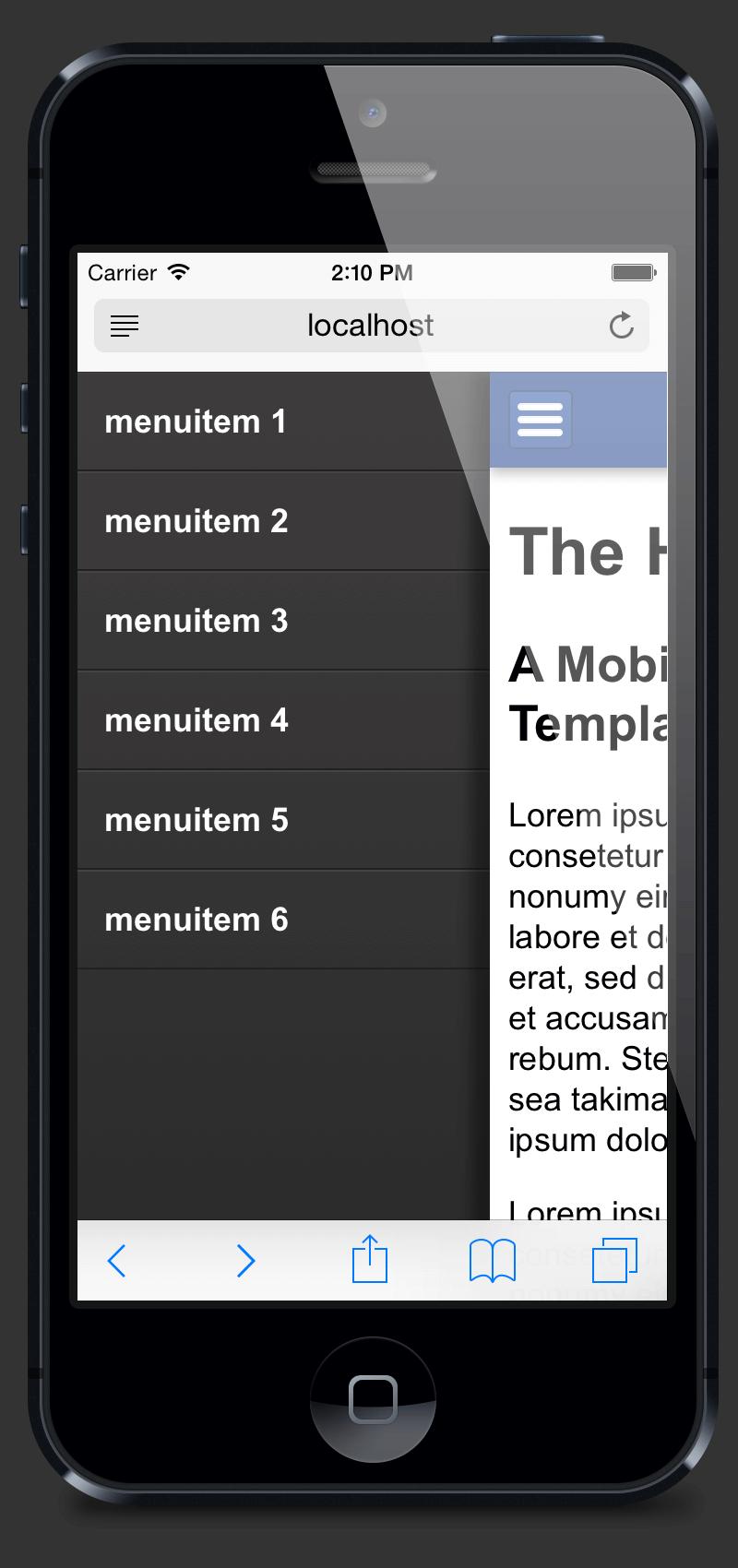 Mobile Menu Hamburger