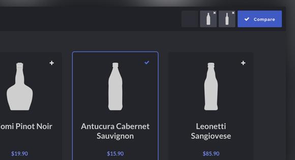 Product Comparison Layout & Effect