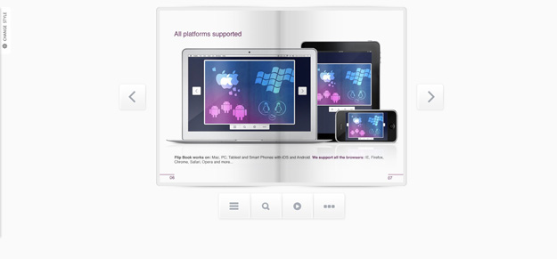 Responsive Flip Book powered by jQuery