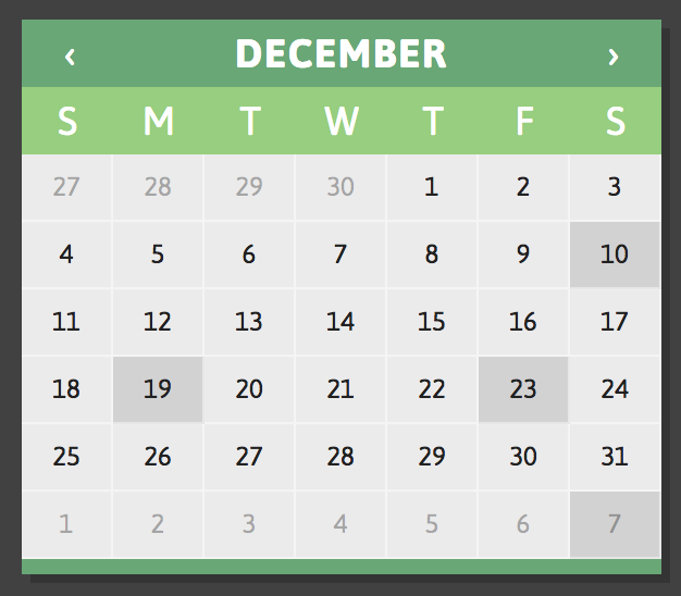 Design Calendar Using Javascript : Jquery calendars for your next project learning