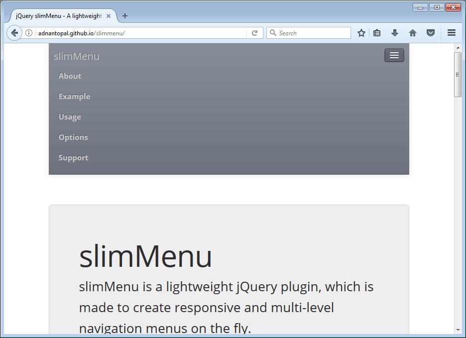 SlimMenu