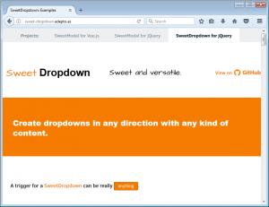Sweet Dropdown