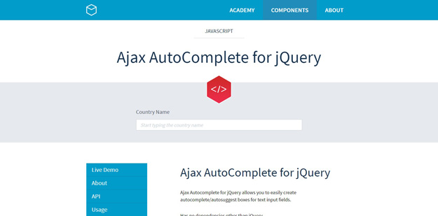 ajax auto complete