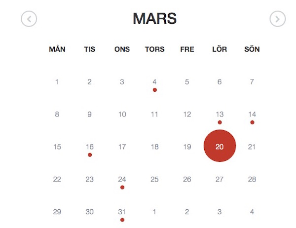 Event Calendar Jquery : Top calendar and date picker jquery plugins learning