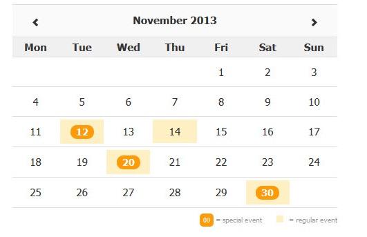 Year Calendar Jquery Plugin : Top calendar and date picker jquery plugins learning