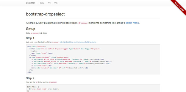 bootstrap dropselect