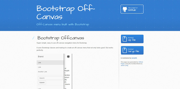 bootstrap off canvas menu