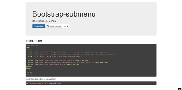 bootstrap submenu