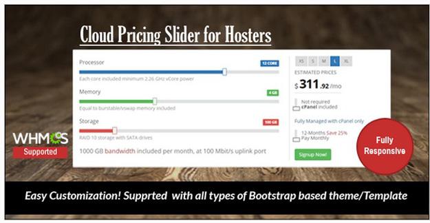 cloud pricing slider
