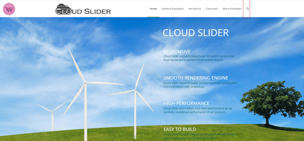 cloud slider