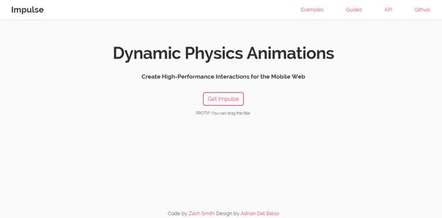 dynamic phyiscs animations