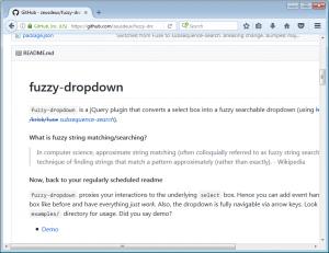 fuzzy Dropdown