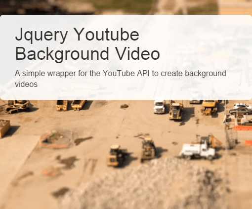 jQuery BackgroundVideo