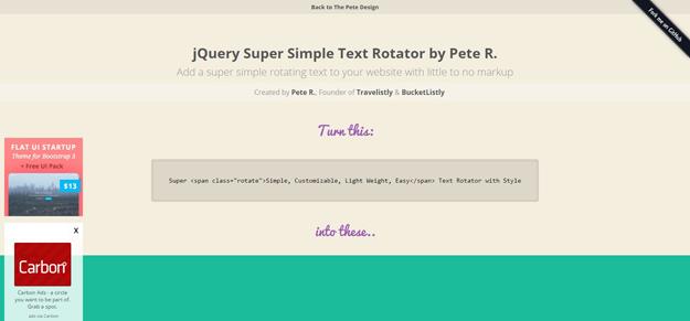 jquery super simple text rotator