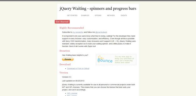 jquery waiting