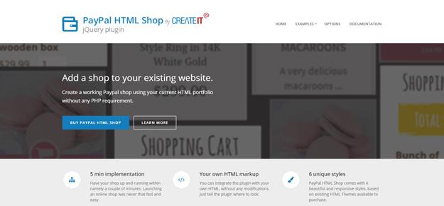 paypal html shop cart