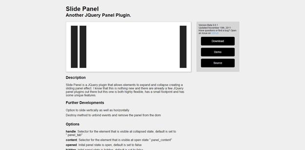 slide panel